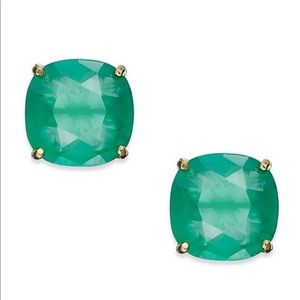 Kate Spade Square Stud Earrings Beryl Green